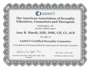 Sexuality Counselor Renewal 2015-2018