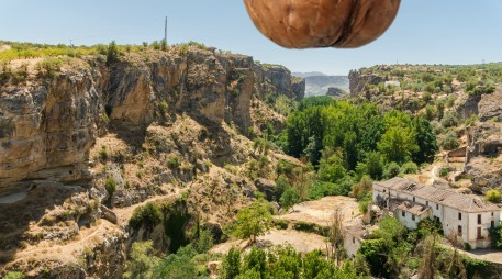 Rio Alhama canyon, Alhama de Granada, Andalusia, Spain