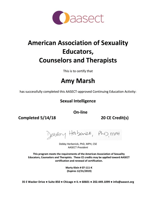 The Supposed Sexologist And Continuing Education Amy Marsh