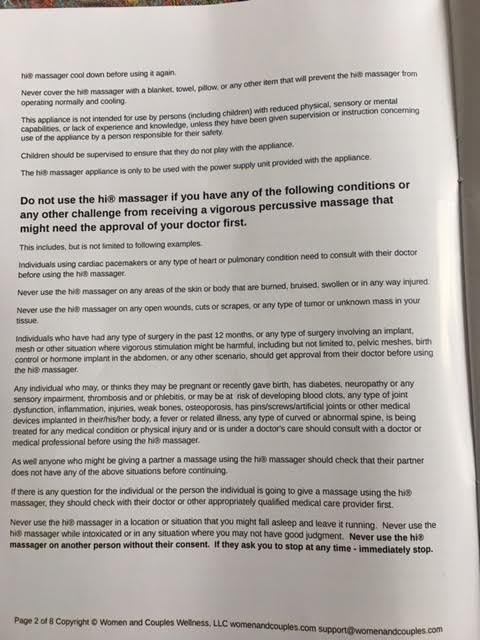 Page 2 of user manual